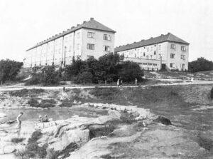 Lerdammen i front och kvarteret Betel i bakgrunden